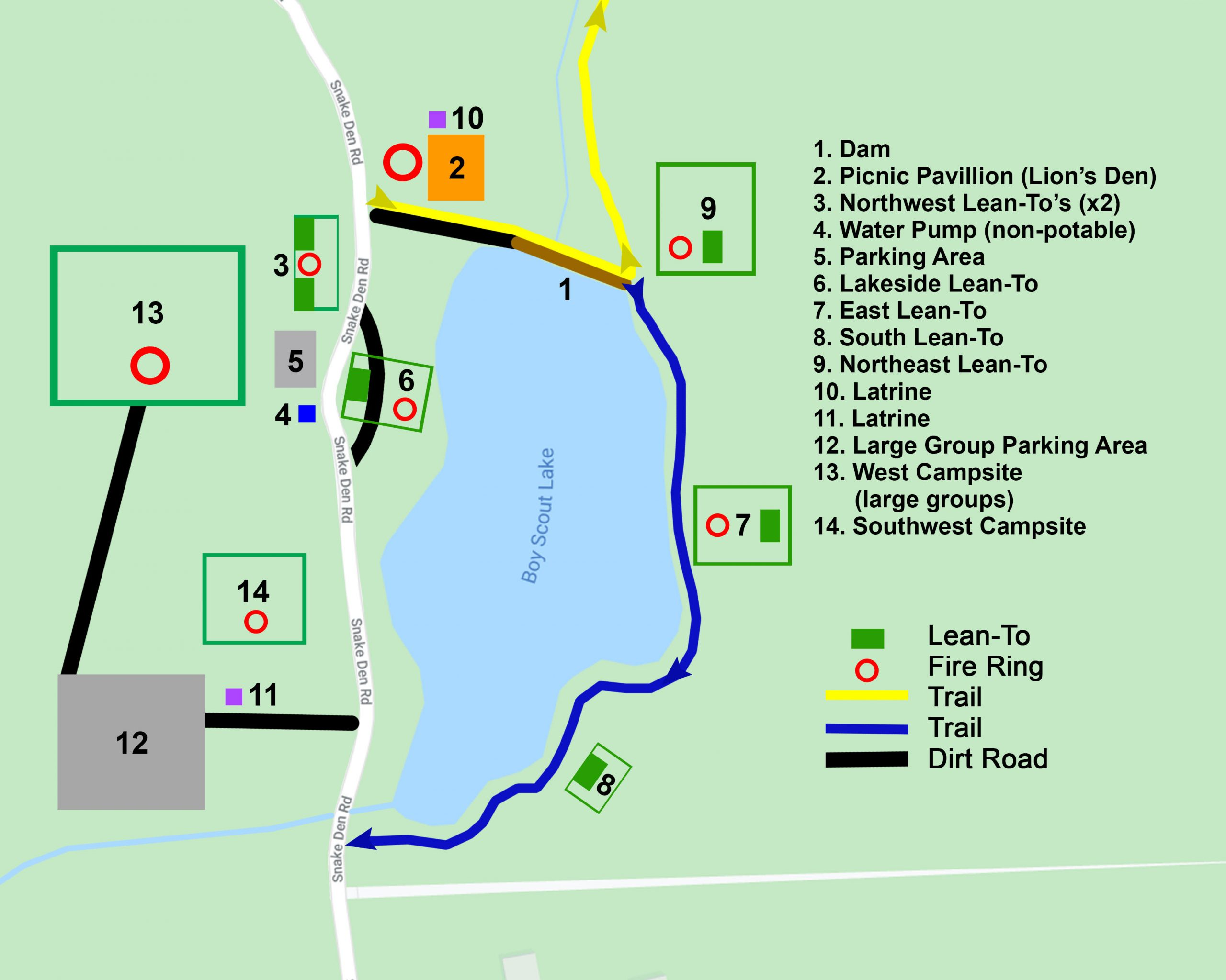 Camp Wyanokie Map